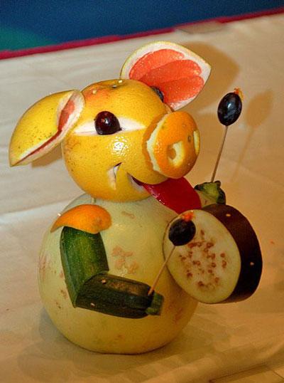 поделки из фруктов и овощей в детский сад своими руками 3