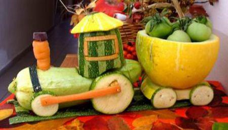 поделки из фруктов и овощей в детский сад своими руками
