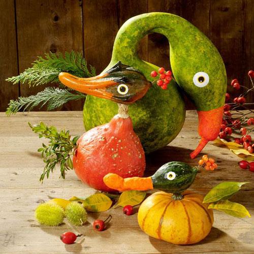 простые поделки из овощей и фруктов 7