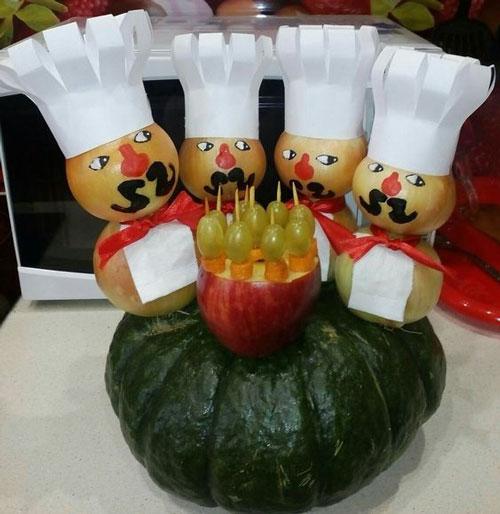 поделки из овощей фруктов и цветов 4