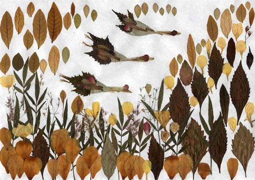 детские поделки из листьев в школу 5