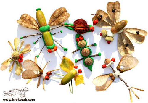 детские поделки из листьев в школу 2