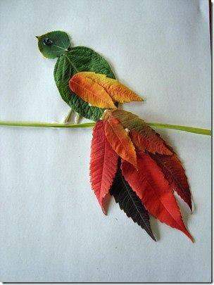 детские поделки из листьев в школу
