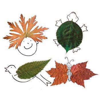 детские поделки из листьев на тему осень в школу 10
