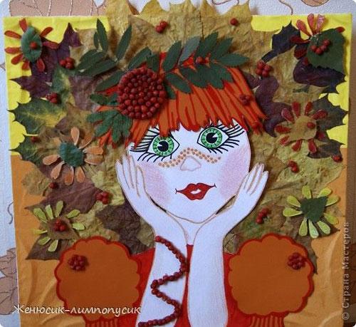 Поделки из листьев на тему осени своими руками 3