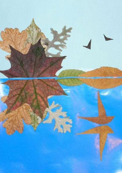 детские поделки из листьев на тему осень в школу 9
