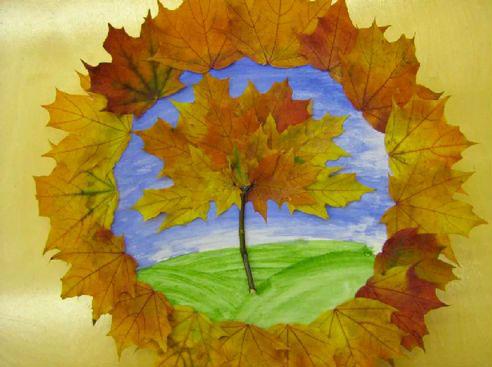детские поделки из листьев на тему осень в школу 8