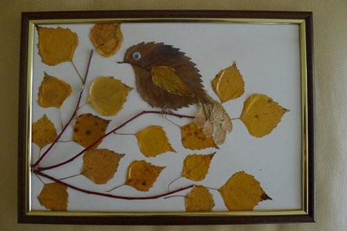 детские поделки из листьев на тему осень в школу 7