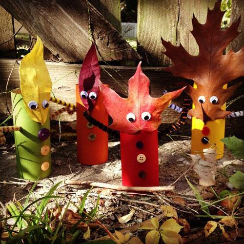 детские поделки из листьев на тему осень в школу 6