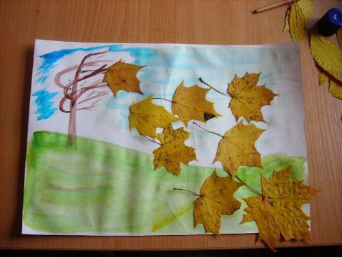 детские поделки из листьев на тему осень в школу 5