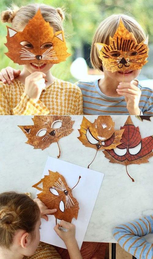 детские поделки из листьев на тему осень в сад 9