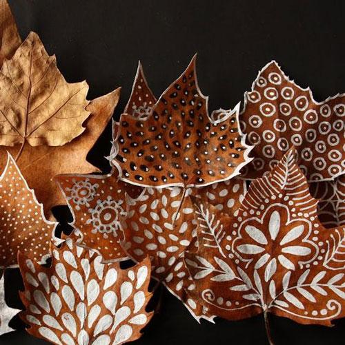 детские поделки из листьев на тему осень в сад 8