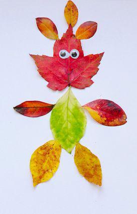 детские поделки из листьев на тему осень в сад 6