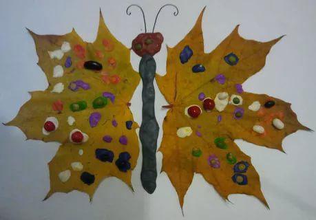 детские поделки из листьев на тему осень в сад 3