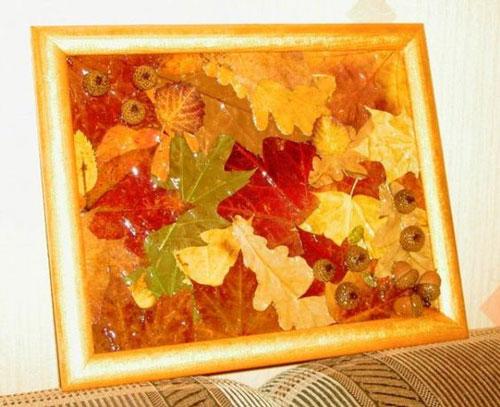 детские поделки из листьев на тему осень в сад 2