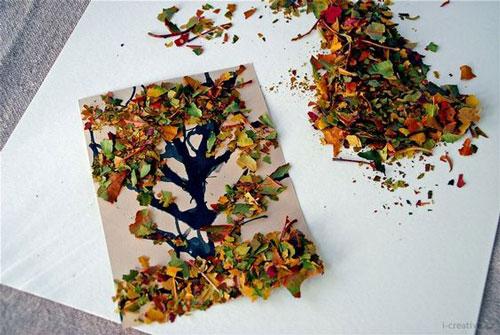детские поделки из листьев на тему осень в сад