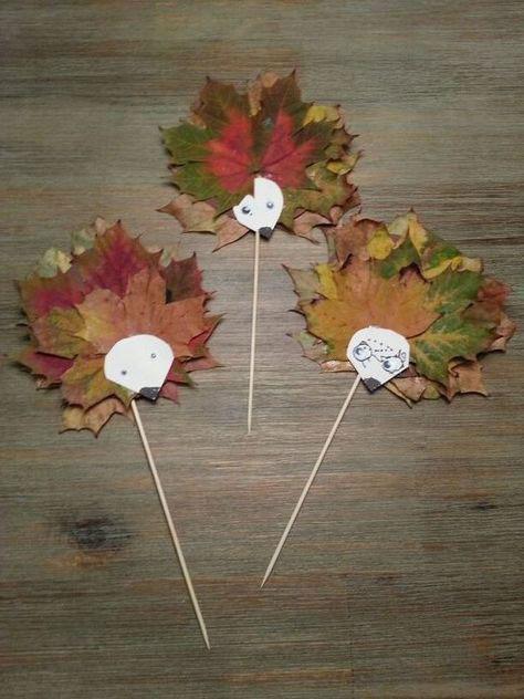 поделки из листьев на тему осень в школу 8