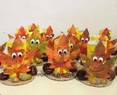 поделки из листьев на тему осень в школу 7