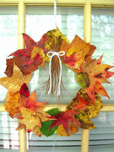 поделки из листьев на тему осень в школу 5