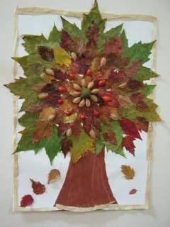 поделки из листьев на тему осень в школу 4
