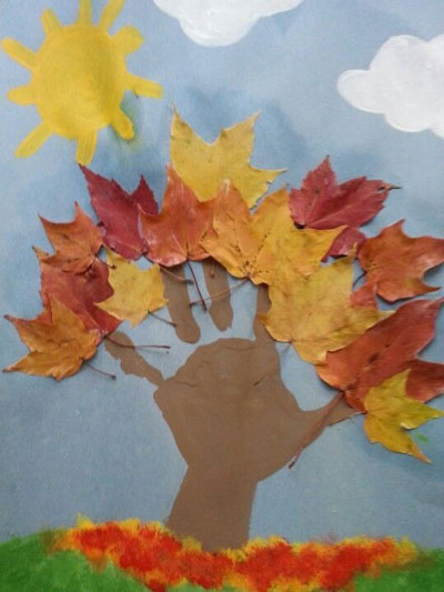 поделки из листьев на тему осень в школу 3