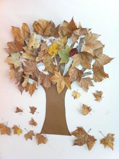 поделки из листьев на тему осень в школу 2