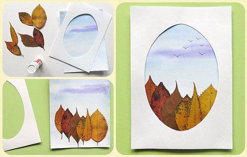 Поделки из листьев на тему осени своими руками