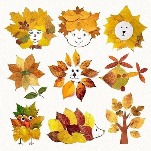 Поделки из листьев на тему осени своими руками 9