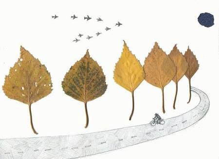 Поделки из листьев на тему осени своими руками 5