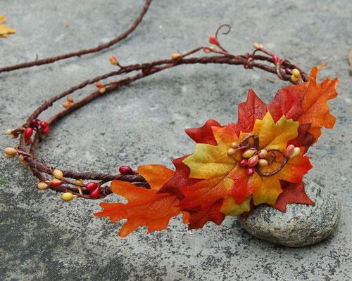 объемная поделка из листьев на тему осень