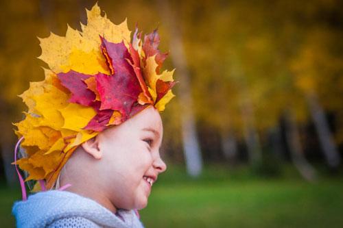 Поделки из листьев на тему осени корона