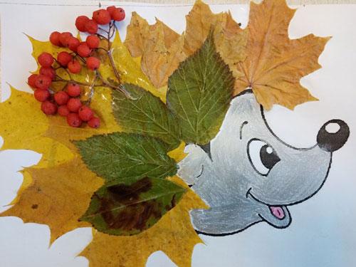 Поделки из листьев на тему осени младшая группа