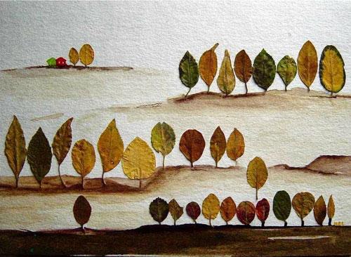поделка из кленовых листьев на тему осень