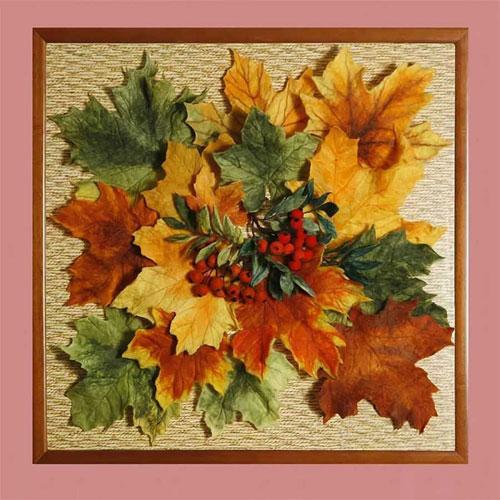 поделка из кленовых листьев на тему осень 2