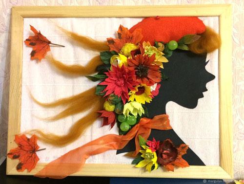 поделки на тему осень из осенних листьев 2
