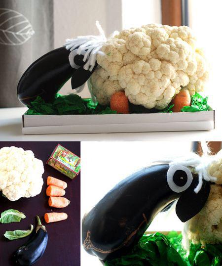 поделки из овощей для детей на тему осень 10