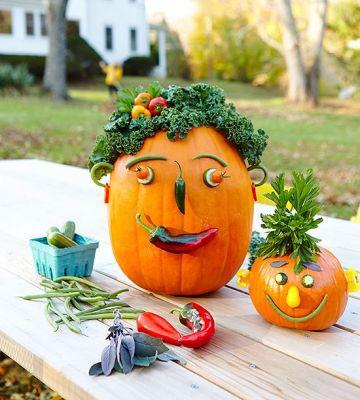 поделки из овощей для детей на тему осень 8