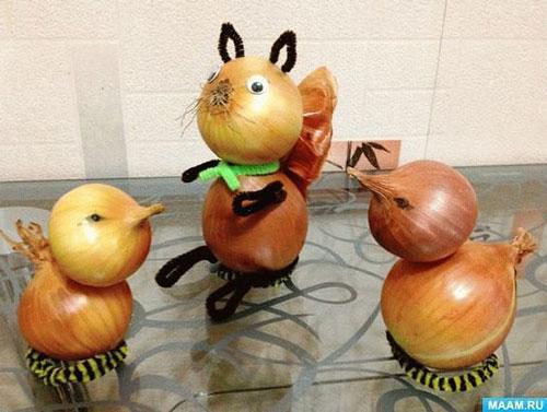 Поделки на тему осень из овощей для детей