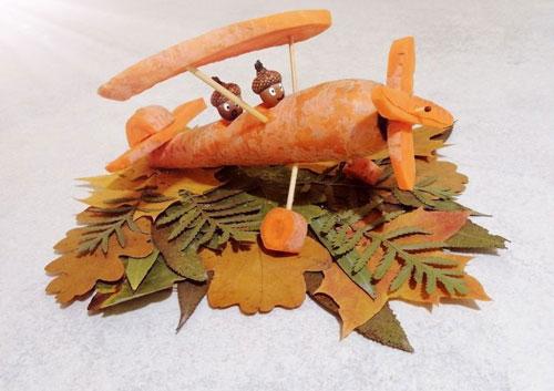 Поделки на тему осень из овощей в садик 5