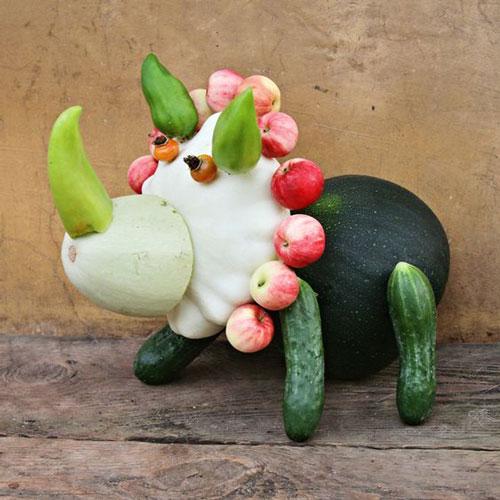 Поделки на тему осень из овощей в садик 3