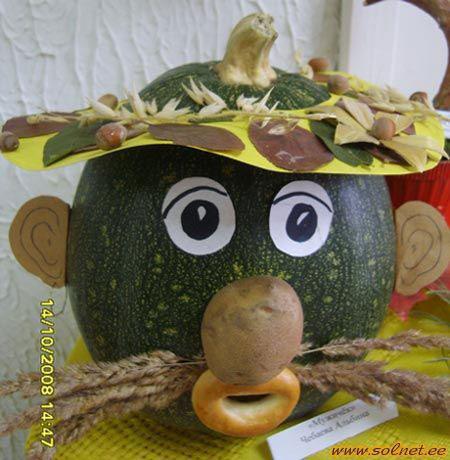 Поделки на тему осень из овощей в садик 2