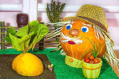 Поделки на тему осень из овощей в садик