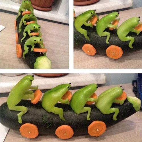 Поделки на тему осень из овощей для детей 4