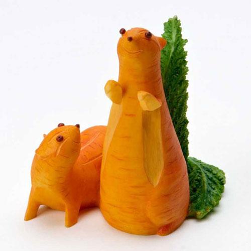 Поделки на тему осень из овощей и фруктов в детский сад 4