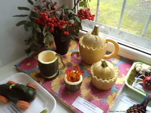 поделки на тему осень из овощей и фруктов своими руками 2