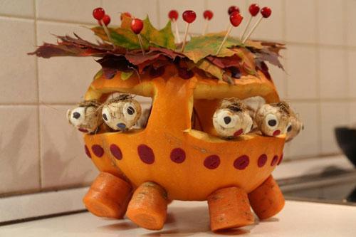 поделки на тему осень из овощей и фруктов в школу своими руками