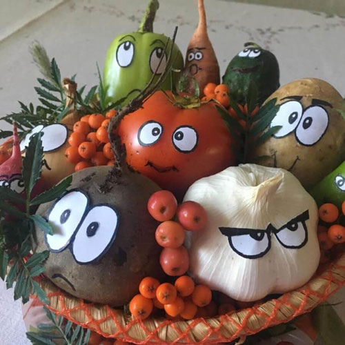 поделки на тему осень из овощей в школу 3 класс