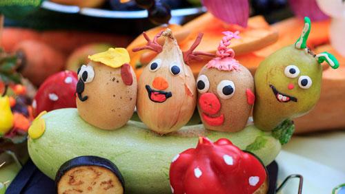 поделки на тему осень из овощей в школу 4 класс
