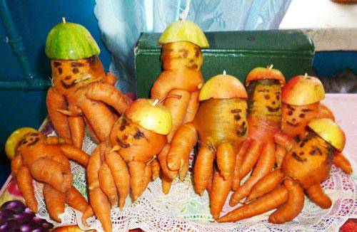 Поделки на тему осень из овощей и фруктов в школу 2