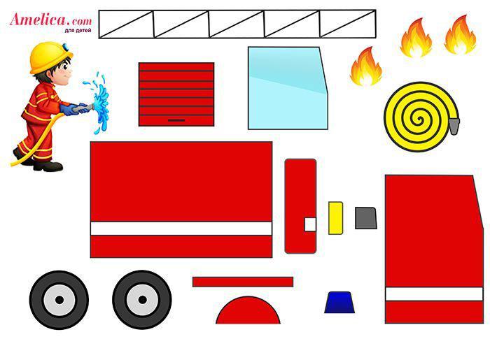 детские поделки на тему пожарная безопасность